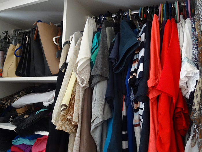 Spring Cleaning Tip - Cluttered closet.