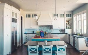 Interior white kitchen